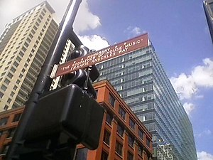 House music - An honorary street name sign in Chicago for house music and the seminal DJ Frankie Knuckles.