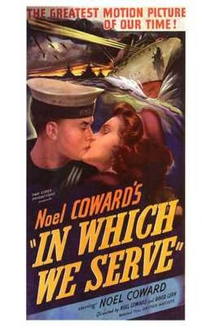 In Which We Serve - US Theatrical release poster