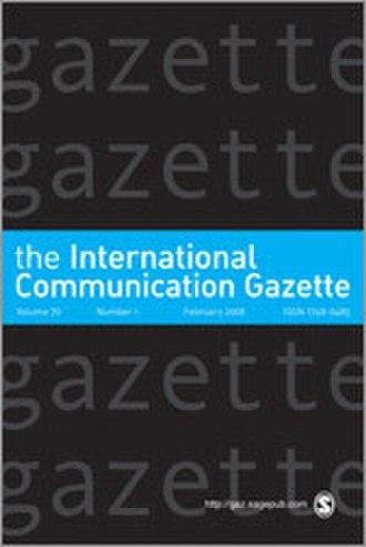 International Communication Gazette - Image: International Communication Gazette Journal Front Cover