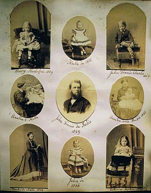 John Francis William, 6th Count de Salis-Soglio - John Francis de Salis and his wife and children, 1866-69.