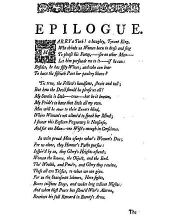 Epilogue of Samuel Johnson's Irene' by Samuel ...
