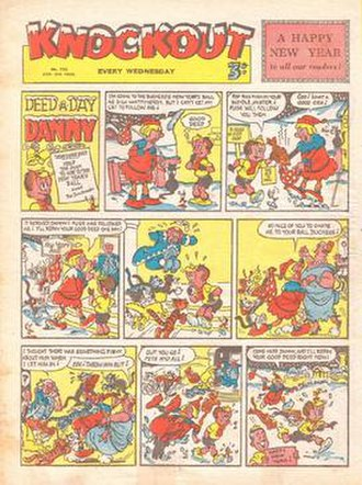 """Knockout (UK comics) - Issue 723 of original series, 1953, cover featuring """"Deed-a-Day Danny"""""""