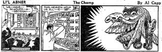 "Basil Wolverton - Li'l Abner daily strip by Al Capp, introducing Basil Wolverton's ""Lena the Hyena"""