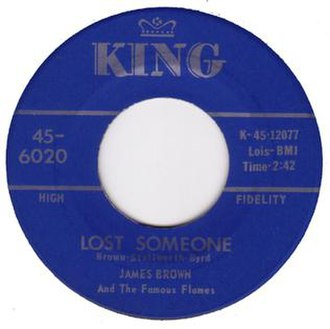 Lost Someone - Image: Lost Someone Live Single