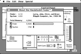 System 6 operating system