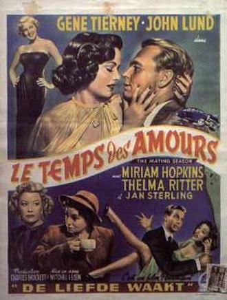 The Mating Season (film) - Belgian film poster