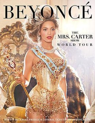 The Mrs. Carter Show World Tour - Promotional poster for the tour