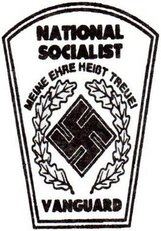 National Socialist Vanguard - The logo of the National Socialist Vanguard, as it appears of the masthead of their newsletter