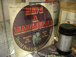 David Peel (musician) - Peel's Have a Marijuana on display at the Hash, Marihuana & Hemp Museum in Amsterdam, The Netherlands