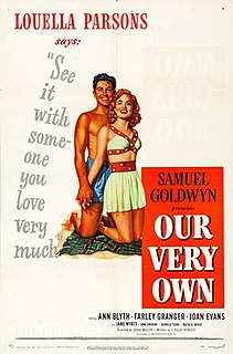 <i>Our Very Own</i> (1950 film) 1950 film by David Miller