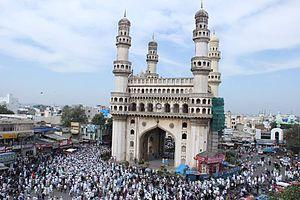Abdullah Quraishi Al-Azhari - Procession going from Charminar
