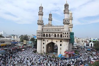 Abdullah Quraishi Al-Azhari - Procession going from Charminar