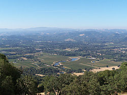 Looking southwest into Redwood Valley, California