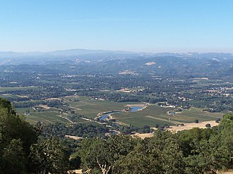 Redwood Valley, California - Looking southwest into Redwood Valley, California