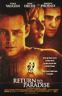 <i>Return to Paradise</i> (1998 film) 1998 film by Joseph Ruben