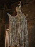 Salt statue of Pope John Paul II