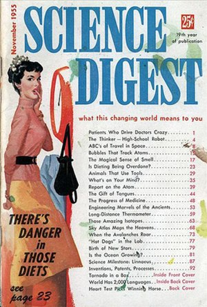 Science Digest - Cover of the November 1955 issue of Science Digest in its original digest-sized format.