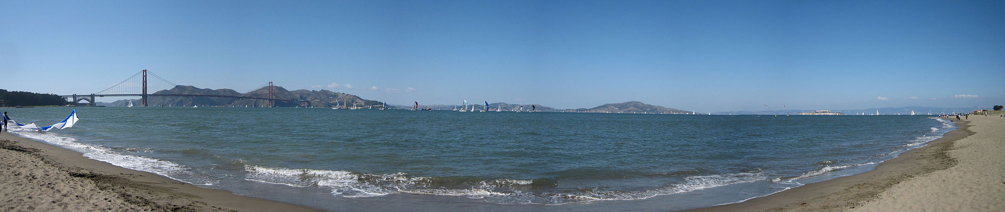 San Francisco Bay panorama with a view
