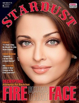 Stardust (magazine) - Aishwarya Rai Bachchan on the May 2016 cover of Stardust