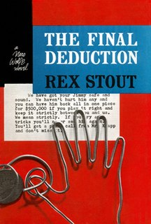 <i>The Final Deduction</i> book by Rex Stout