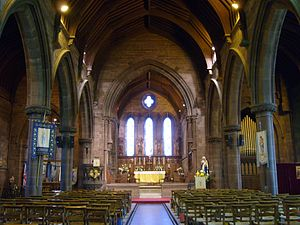 St Thomas of Canterbury Church, Chester - Image: Stthomaschester