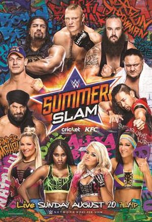 SummerSlam (2017) - Promotional poster featuring various WWE wrestlers