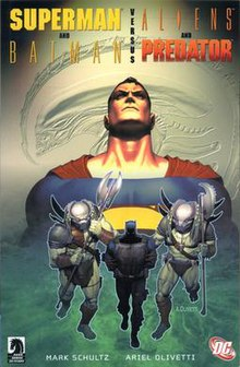 Image result for SUPERMAN AND BATMAN VERSUS ALIENS AND PREDATOR