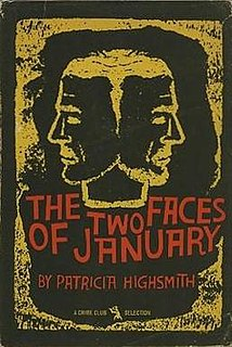 <i>The Two Faces of January</i> psychological thriller novel by Patricia Highsmith