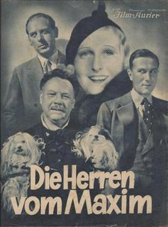 <i>The Gentleman from Maxims</i> 1933 film by Carl Boese