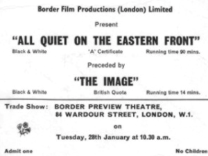 The Image (1969 film) - Ticket stub