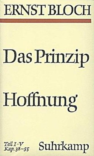 The Principle of Hope - Cover of the German edition