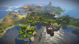 The Witness (2016 video game) - The island that acts as the main setting for The Witness, which remained mostly unchanged in its design since the game's inception. As a comparatively small space compared to other open-world games, Thekla kept the island as one zone which made for challenges in managing simultaneous editing and development.