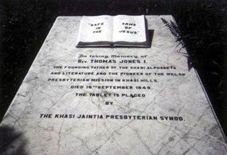 Thomas Jones (missionary) - The gravestone of Thomas Jones in the Scottish Cemetery, Calcutta.