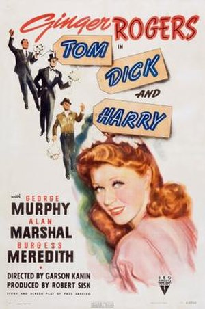 Tom, Dick and Harry (1941 film) - Image: Tom, Dick and Harry Film Poster