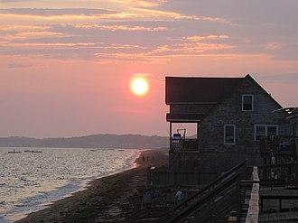 North Truro, Massachusetts - Summer sunset along Beach Point, North Truro