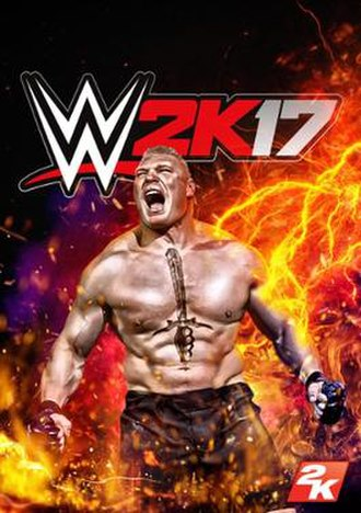 WWE 2K17 - Cover art featuring Brock Lesnar