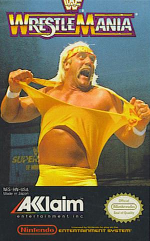 WWF WrestleMania (1989 video game) - Cover art featuring Hulk Hogan