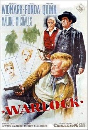 Warlock (1959 film) - 1959 movie poster