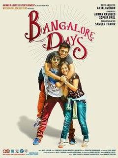<i>Bangalore Days</i> 2014 Malayalam romantic comedy movie