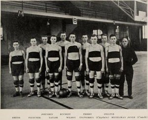 1918–19 Illinois Fighting Illini men's basketball team - Image: 1918 1919 University of Illinois Fighting Illini Men's basketball team