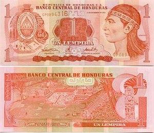 Honduran lempira - Image: 1Lempira