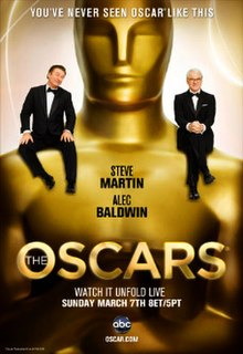 Official poster featuring Steve Martin and Alec Baldwin promoting the 82nd Academy Awards in 2010