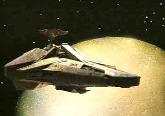Blake's 7 - Scorpio, the Wanderer class cargo ship used for series 4.