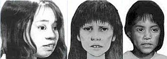 Murder of Anjelica Castillo - Three reconstructions of Castillo which were created in efforts to identify her body