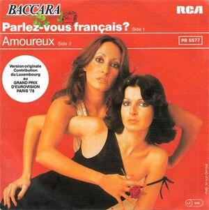 Parlez-vous français ? - Image: Baccara Parlez Vous Francais