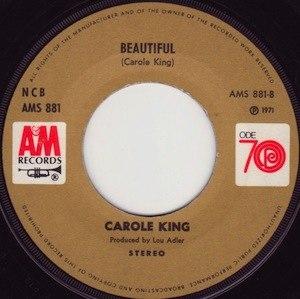 Beautiful (Carole King song) - Image: Beautiful Carole King single label