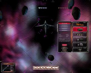 Allegiance (video game) - A screenshot from early development showing the command view and the Commander investing credits into a new base.