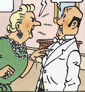 Nestor (comics) - Nestor (right) with Bianca Castafiore, by Hergé