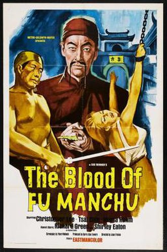 The Blood of Fu Manchu - Theatrical release poster
