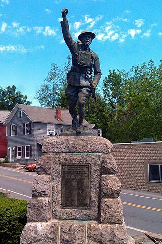 John Paulding (sculptor) - Image: Bolton Landing Paulding Statue